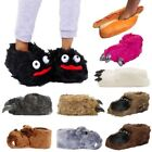 Adults Soft 3D Animal Slippers Mens Womens Slip On Comfy Novelty Indoor Footwear