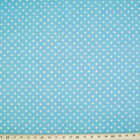 100% Cotton Fabric - 3mm SPOT - POWDER BLUE  - Rose & Hubble - Cut from Roll
