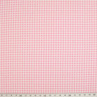 100% Cotton Fabric - Mini Check Gingham - PINK  - Rose & Hubble - Cut from Roll