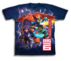 Disney Big Hero 6 Team Up Youth Navy Blue T-Shirt