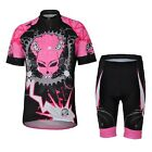 Pink Devil Women Cycling Jersey Shorts Set Bike Clothing Breathable Quickly Dry