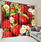 3D Strawberry 5 Blockout Photo Curtain Printing Curtains Drapes Fabric Window AU