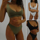 New Womens Swimwear Bikini Set Push-up Bra Bandage Swimsuit Bandage Bathing Suit