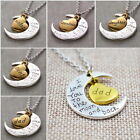 I Love You to the Moon and Back - Moon Heart Necklace 2 Tone