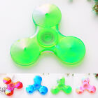 Mini Plastic Clear Tri Fidget Hand Gyro Finger Spinner Toy EDC Focus Anti Stress