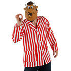 THE BULL DARTS MASCOT FANCY DRESS COSTUME BULLY BULLSEYE STRIPED BLAZER AND MASK