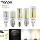 LED Lights E27 E14 220 110V 24 30 42 64 80LEDs Smart IC Power 5730 SMD Corn Lamp