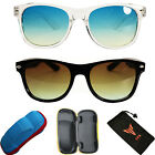 Kids Boys Girls Smoke Lens Men Women Unisex Black Sunglasses Eyewear + Hard Case