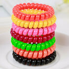 5PC Girls Clear Elastic Rubber Hairband Phone Wire Hair Tie Rope Band Ponytail