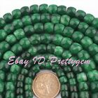 6x8,8x10,12x14mm Natural Drum Green Jade Smooth Gemstone Beads Spacer Strand 15""