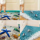 Removable 3d Beach Floor Wall Sticker Mural Decals Home Living Room Party Decors