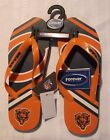 Forever Collectibles NFL Chicago Bears Unisex Flip Flops Size S M L Choice NWT