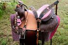 Horse Western Barrel Show Pleasure LEATHER SADDLE Bridle  50273