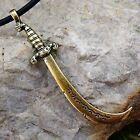 SCIMITAR SWORD PERSIAN ARABIAN WARRIOR Isalmic Isalm Muslim Brass Pewter Pendant