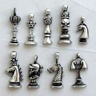 Chess Piece King Queen Knight Horse Dragon Bishop Rook Dragon Pewter Pendant