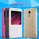 Genuine Nillkin PU Leather Flip Smart Window Cover Case For Xiaomi Redmi Note 4X