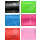 Large Gloss Plastic Pencil Case Travel Toiletries Wash Bag Make Up Cosmetics