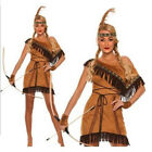 Native American Indian Wild West Fancy Dress Cosplay Costume Ladies Dress Set