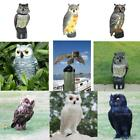 Realistic Owl Decoy Pest Control Garden Yard Scarer Scarecrow Ornament 4 Types