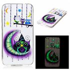 Soft TPU Rubber Silicone Clear Glow in dark Luminous Case Cover For Huawei Phone