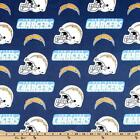 """100% Cotton Fabric NFL San Diego Chargers Fabric 60"""" Wide Licensed Sold BTY $10.95 USD"""