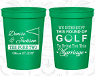 Personalized Plastic Wedding Cups Custom Cup (315) Golf Wedding Favors