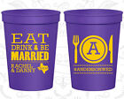 Personalized Wedding Party Cups Custom Cup (422) Eat Drink And Be Married