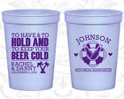 Personalized Wedding Stadium Cups Custom Cup (441) Cruise Wedding Favors