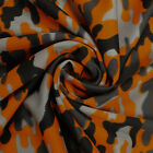 8+ Colored Camouflage Dimple Mesh Poly Stretch Sports Knit Fabric by the Yard