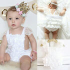 Infant Baby Lovely Floral Lace Ruffles Sleeveless Romper Summer Jumpsuit Cool