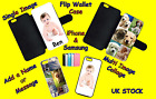 PERSONALISED CUSTOM PRINTED iPhone compatible Flip Wallet Case Phone Cover Photo