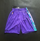 Charlotte Hornets Team Men Shorts Throwback Sports Basketball Pants Purple NWT