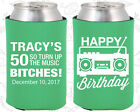 Personalized 50th Birthday Party Ideas Coozies (20118) 80's Birthday, Vintage