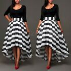 Women's Irregular 3//4 Sleeve Tops Party Evening Long Maxi Dress 2PCS Outfits