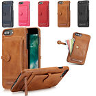 Leather Wallet Card Slot Holder Flip Stand Back Cover Case For iPhone 6S 7 Plus