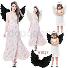 Feather Angel Wings Costume Accessory Adult Teen & Kids Halloween Fancy Dress