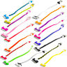 "Short Tiny 8"" Noodle USB Data Sync Cable Cord Charger for iPhone 4 4S 3GS iPod"