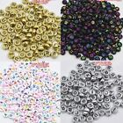200PCS Spacer Acrylic Beads DIY Cube Making Loose Random Alphabet Jewelry Letter