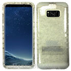 for Samsung Galaxy S8 & Plus KoolKase Hybrid Silicone Cover Case - Clear Glitter