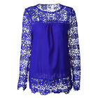 Plus Size S-5XL US Women Long Sleeve Shirt Casual Lace Loose Casual Tops Blouse фото