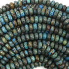 Kyпить Brown Blue Turquoise Rondelle Beads Gemstone 15.5
