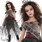 Girls Teen Childs Prombie Prom Queen Halloween Zombie Fancy Dress Costume Outfit