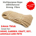 14+mm+Thick+Natural+Multipurpose+Jute+Rope+Twisted+Cord+Twine+Sash+Garden+DIY+