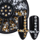 Nail Rhinestone 3mm Round Flat Back 3D Manicure Nail Art Decoration in Wheel
