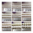 WHITE or CREAM ACRYLIC PEARL BEADS  3mm - 20mm *11 SIZES* BEADING STRINGS CRAFTS