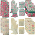 Laura Ashley 10pc Kitchen Set Towels Oven Mitts Pot Holders Drying Mats Cotton