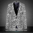Fashion Stylish Men's Casual Suits Slim Fit One Button Blazer Coat Jacket Tops