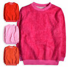 Girls Jumper New Kids Fluffy Glitter Sweater Long Sleeved Top Ages 2 - 10 Years