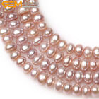 """Dyed Assorted Color Rondelle 7-8mm Freshwater Pearl Jewelry Making  Beads 15"""""""