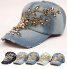 Manually  gold flower adornment  summer woman man  baseball  cap outdoor hat